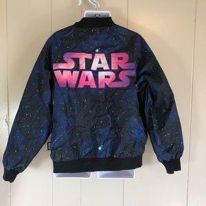 5-6 Disney store Star Wars bomber jacket galaxy
